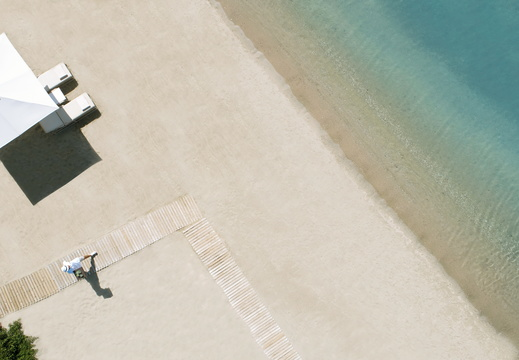 Ikos Olivia | Service on the Beach - Aerial